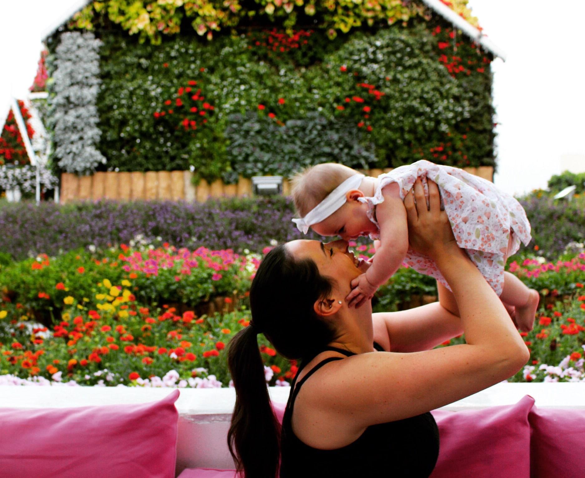 baby travel Dubai UAE botanic gardens