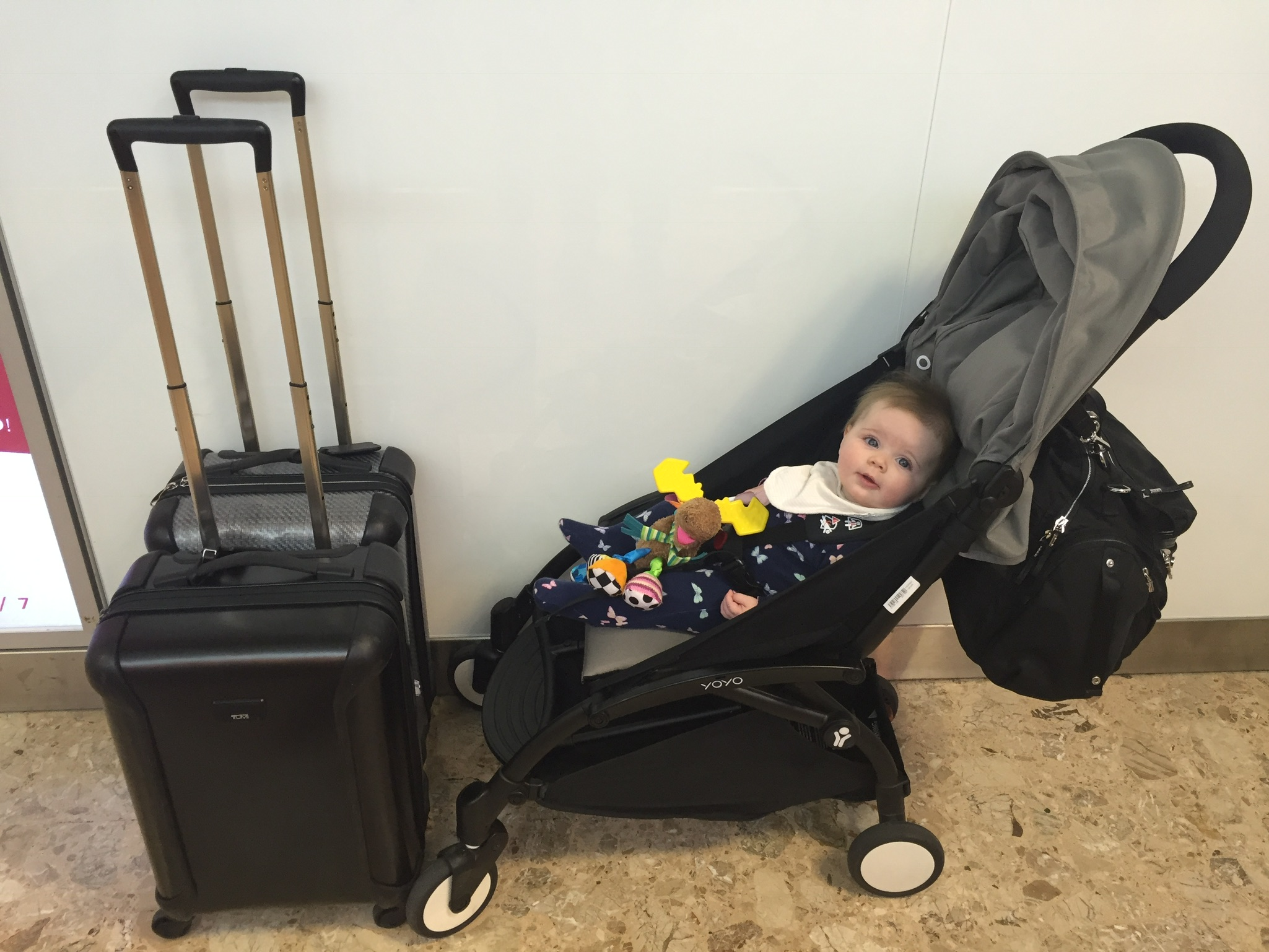 flying with a baby and packing