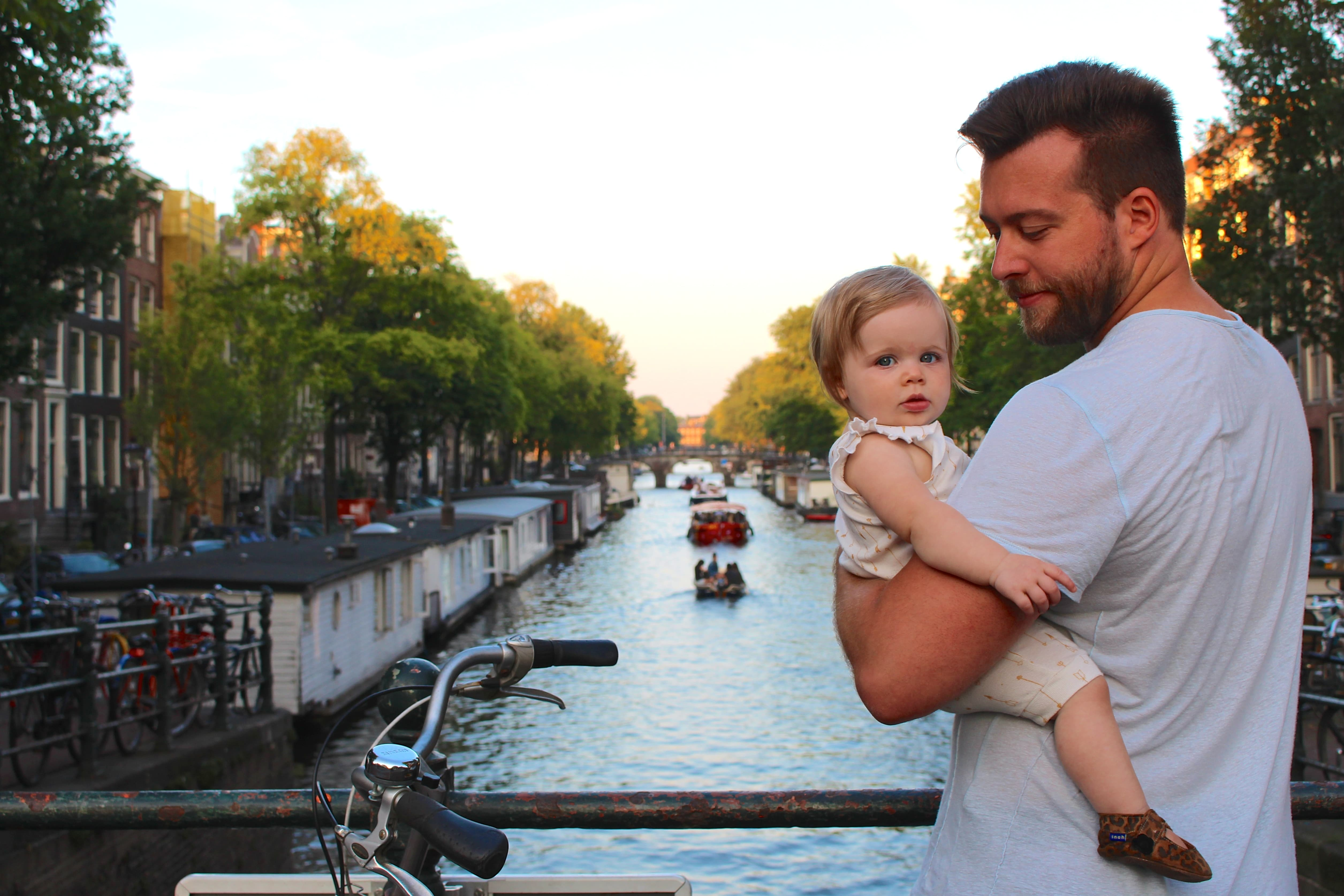 amsterdam canal baby travel