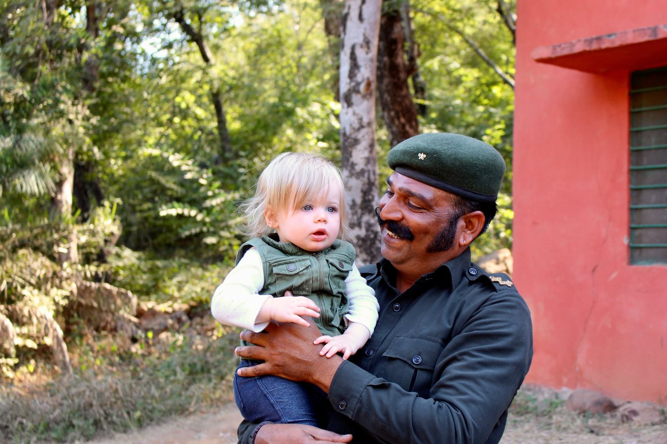 tiger safari with a baby in india