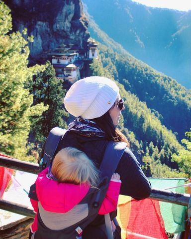 tigers nest bhutan with a toddler altitude