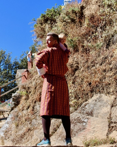 hiking bhutan with a baby
