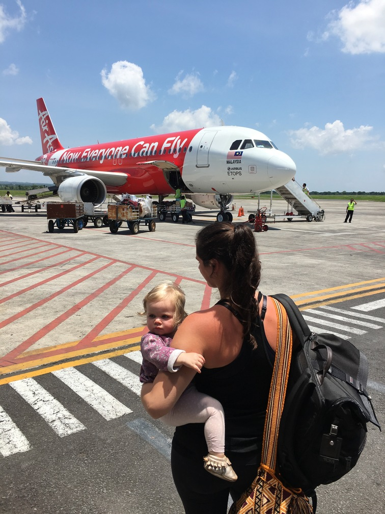 Airplane travel with toddlers