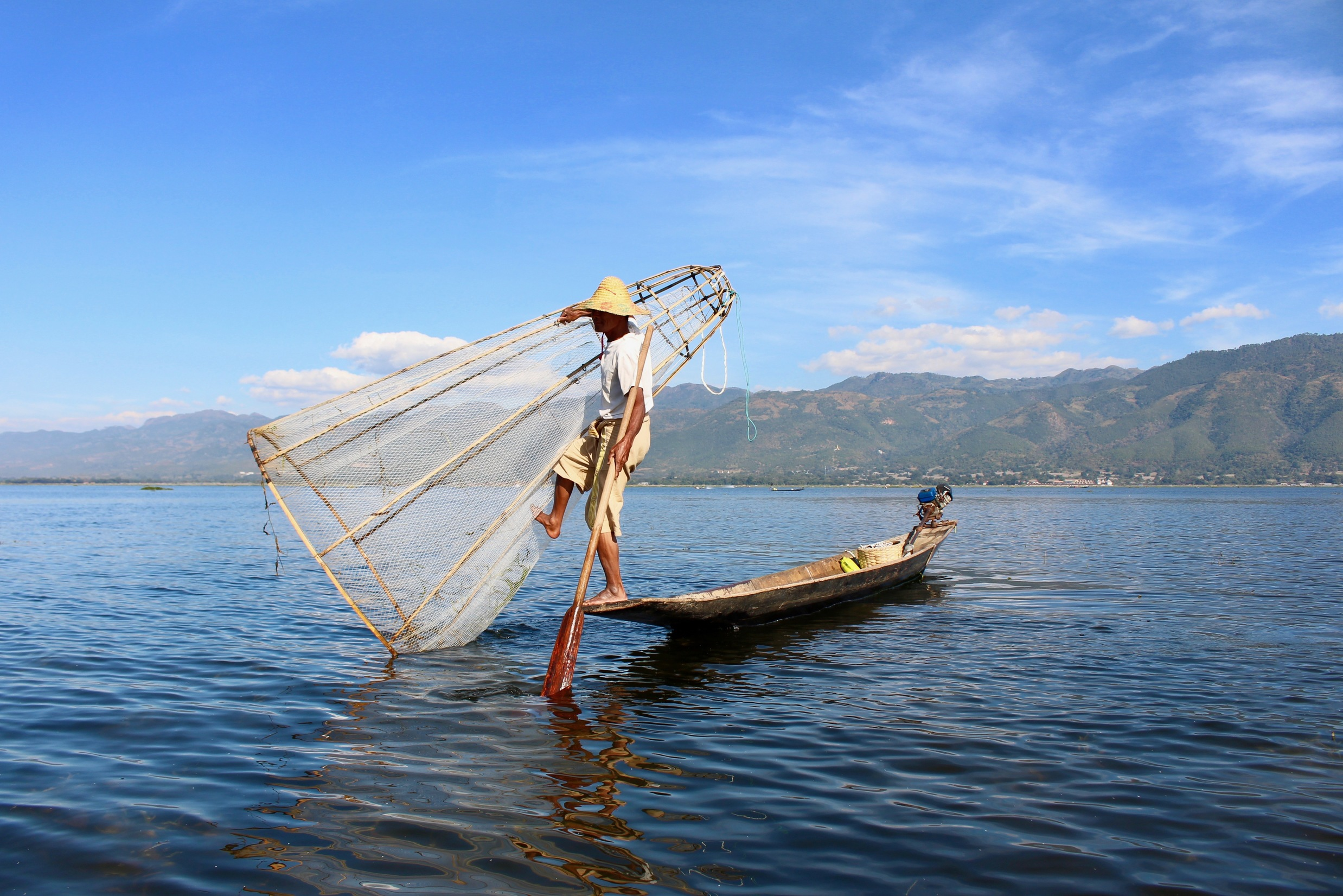 inle lake, myanmar with travel agent