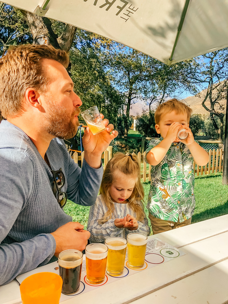 franschhoek beer company with kids