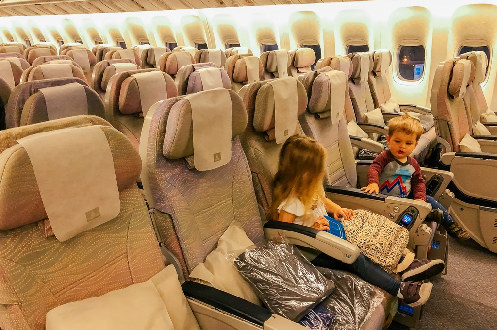 flights with kids